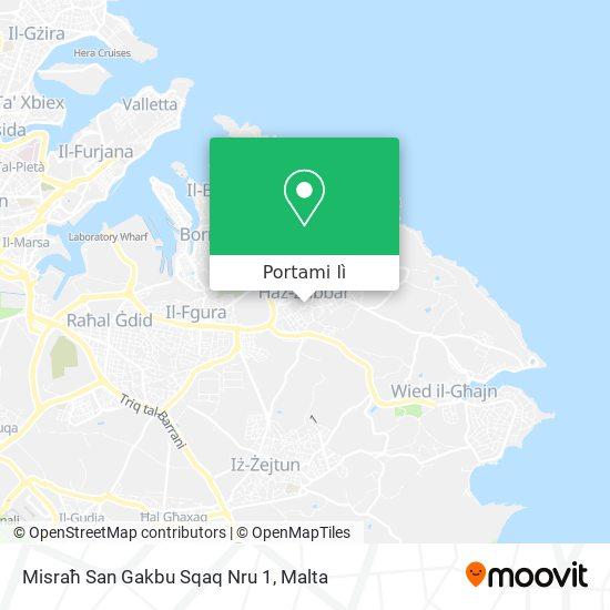 Mappa Misraħ San Gakbu Sqaq Nru 1