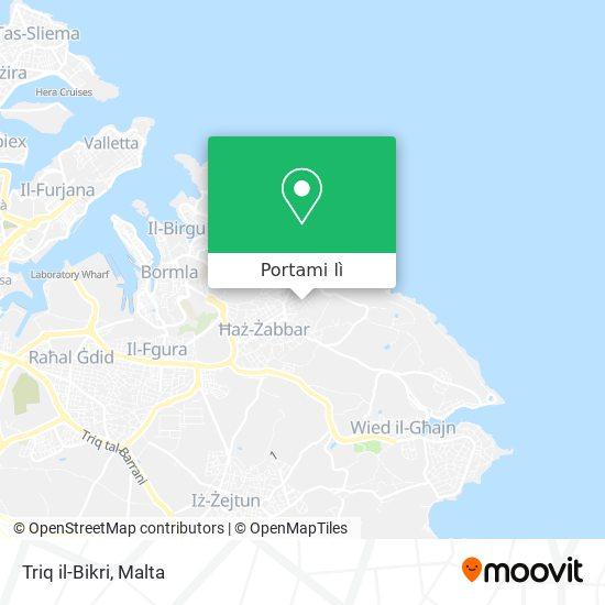 Mappa Triq il-Bikri