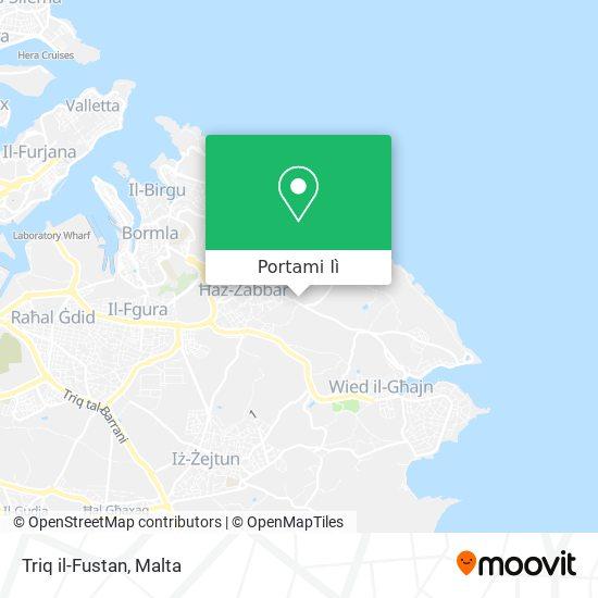 Mappa Triq il-Fustan