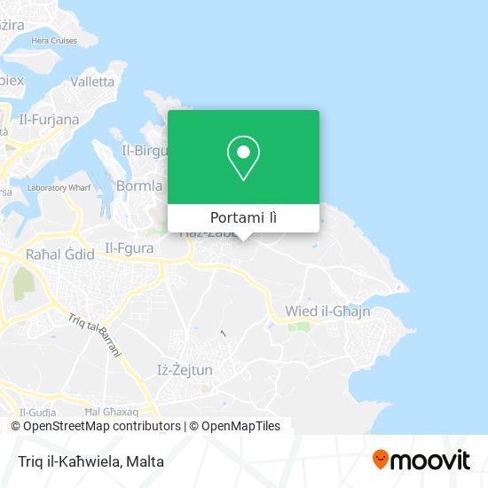 Mappa Triq il-Kaħwiela