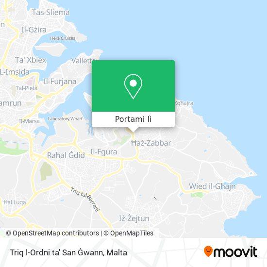 Mappa Triq l-Ordni ta' San Ġwann
