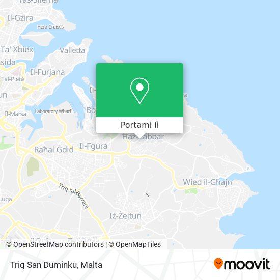 Mappa Triq San Duminku