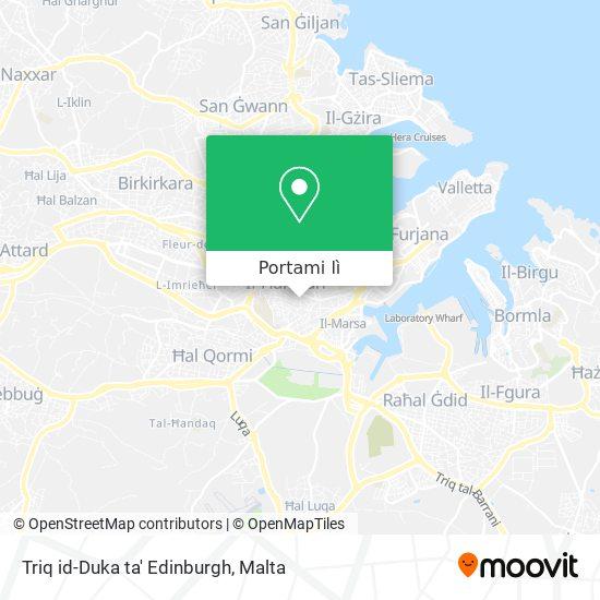Mappa Triq id-Duka ta' Edinburgh