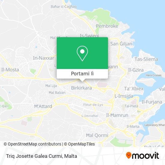 Mappa Triq Josette Galea Curmi