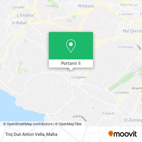 Mappa Triq Dun Anton Vella