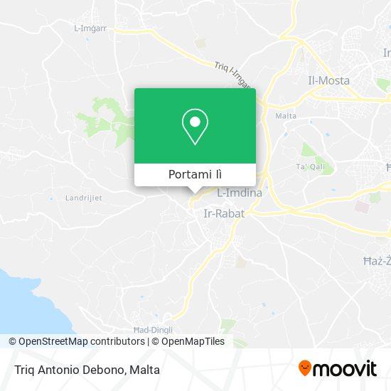 Mappa Triq Antonio Debono