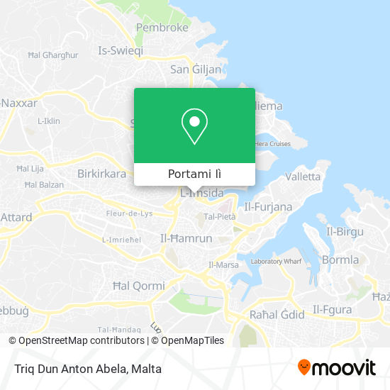 Mappa Triq Dun Anton Abela