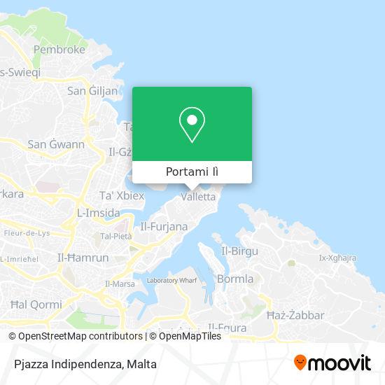 Mappa Pjazza Indipendenza