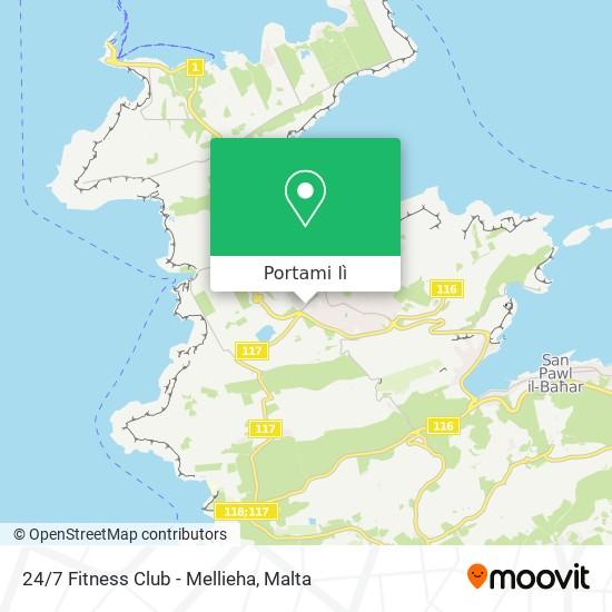 Mappa 24/7 Fitness Club - Mellieha