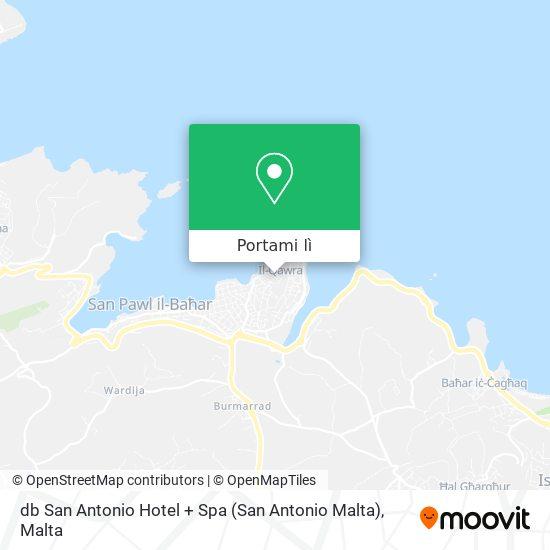 Mappa db San Antonio Hotel + Spa (San Antonio Malta)