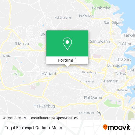 Mappa Triq il-Ferrovija l-Qadima
