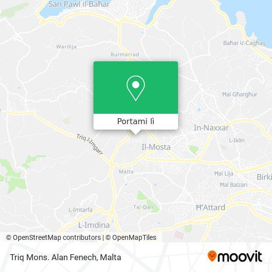 Mappa Triq Mons. Alan Fenech