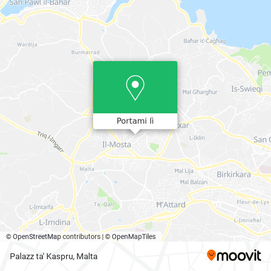 Mappa Palazz ta' Kaspru