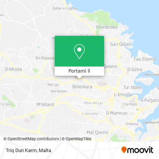 Mappa Triq Dun Karm