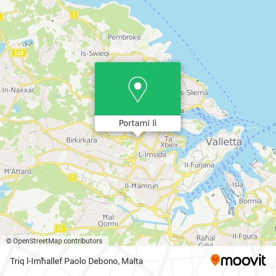 Mappa Triq l-Imħallef Paolo Debono
