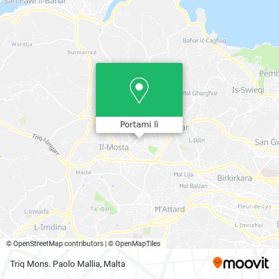 Mappa Triq Mons. Paolo Mallia