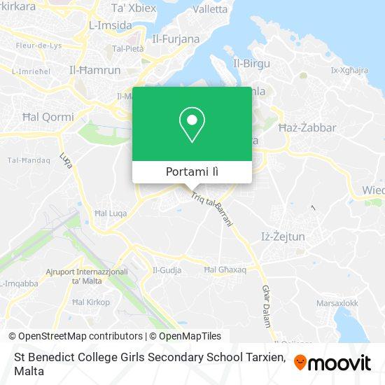 Mappa St Benedict College Girls Secondary School Tarxien