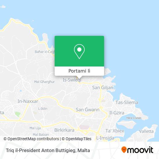 Mappa Triq il-President Anton Buttigieg