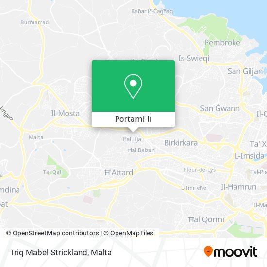 Mappa Triq Mabel Strickland