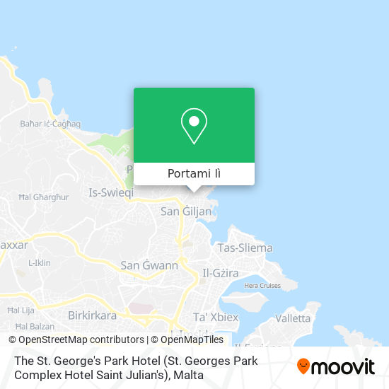 Mappa The St. George's Park Hotel (St. Georges Park Complex Hotel Saint Julian's)