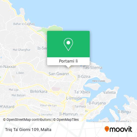 Mappa Triq Ta' Giorni 109