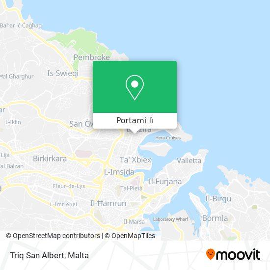 Mappa Triq San Albert