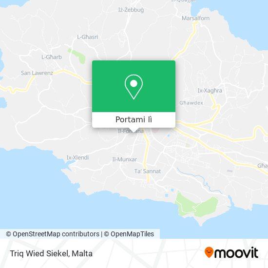 Mappa Triq Wied Siekel
