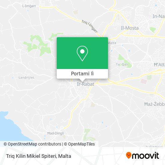 Mappa Triq Kilin Mikiel Spiteri