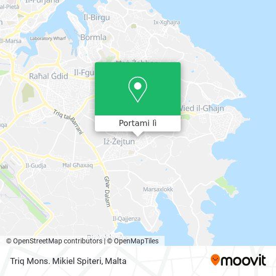 Mappa Triq Mons. Mikiel Spiteri