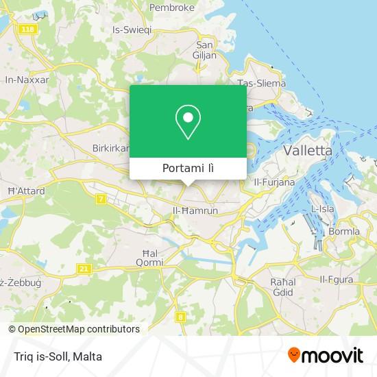 Mappa Triq is-Soll