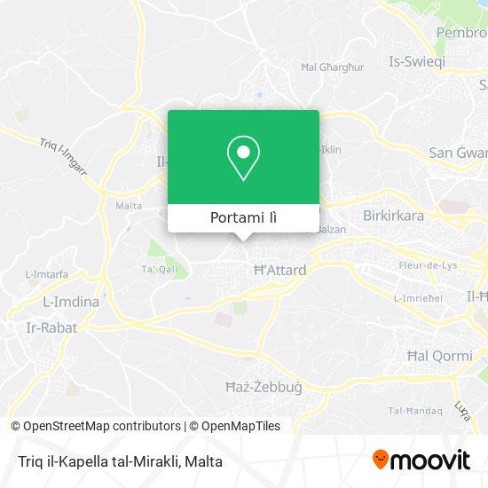 Mappa Triq il-Kapella tal-Mirakli