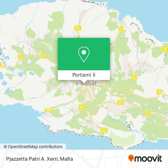 Mappa Pjazzetta Patri A. Xerri