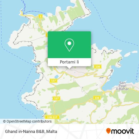 Mappa Ghand in-Nanna B&B