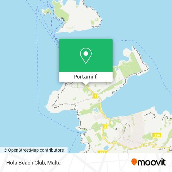 Mappa Hola Beach Club