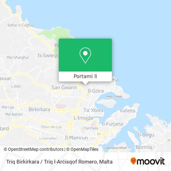 Mappa Triq Birkirkara / Triq l-Arċisqof Romero