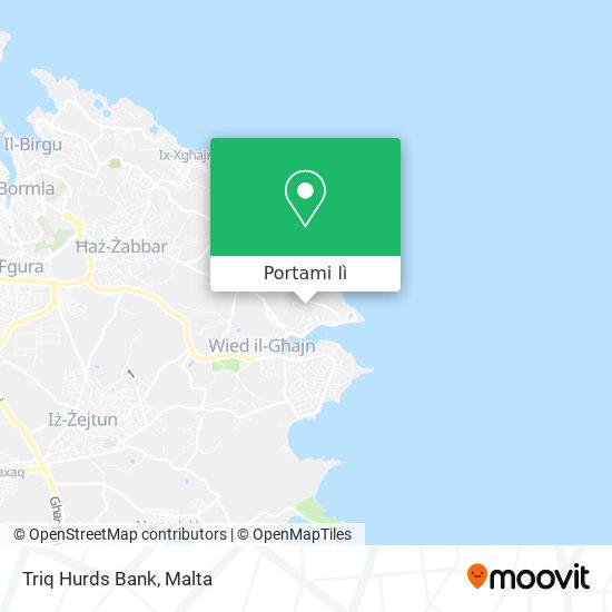 Mappa Triq Hurds Bank