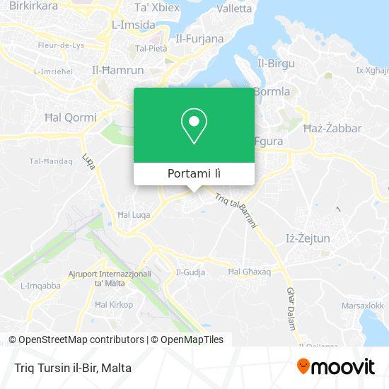 Mappa Triq Tursin il-Bir