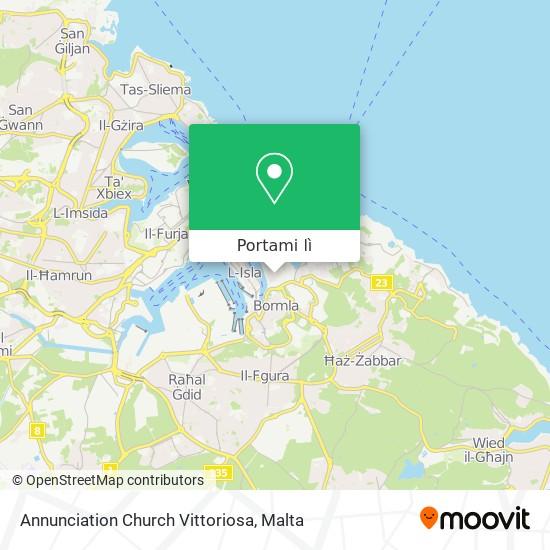 Mappa Annunciation Church Vittoriosa