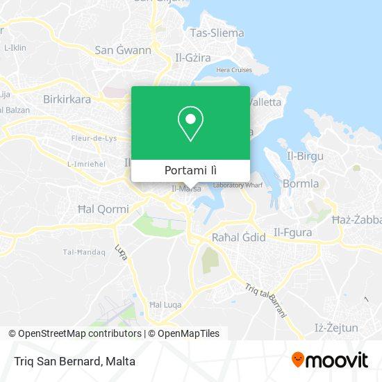 Mappa Triq San Bernard