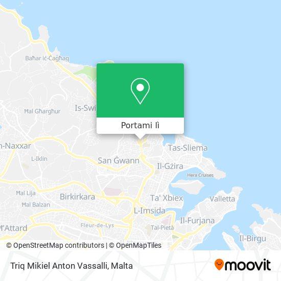 Mappa Triq Mikiel Anton Vassalli