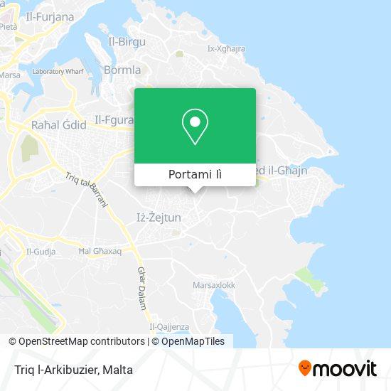 Mappa Triq l-Arkibuzier
