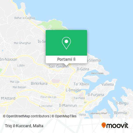 Mappa Triq il-Kuccard