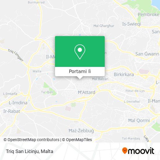Mappa Triq San Liċinju