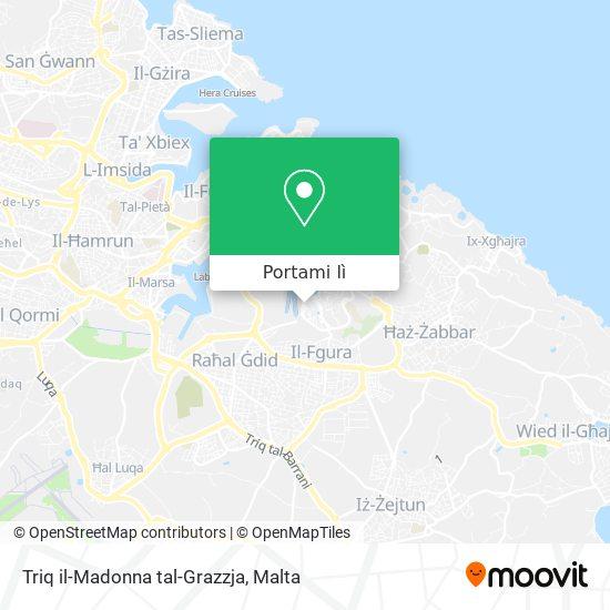 Mappa Triq il-Madonna tal-Grazzja