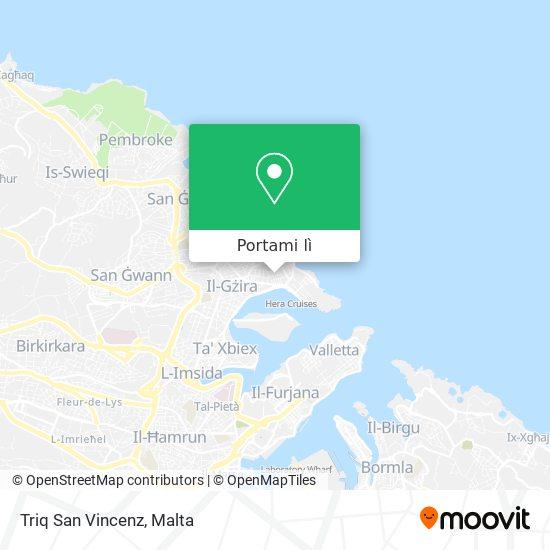 Mappa Triq San Vincenz