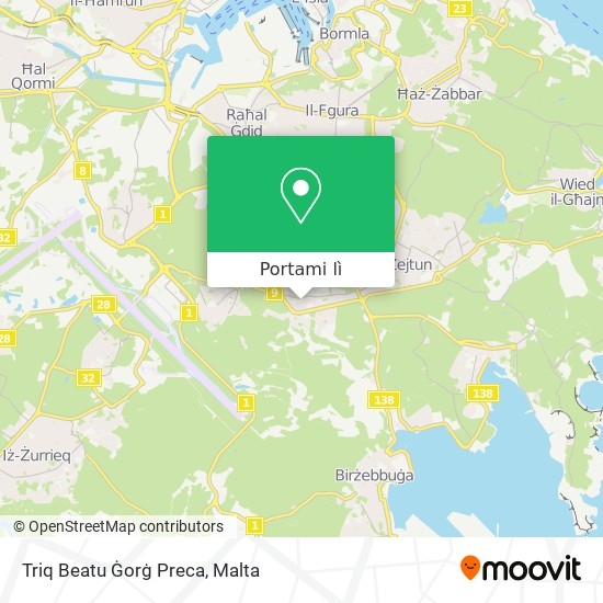 Mappa Triq Beatu Ġorġ Preca