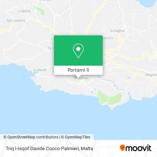 Mappa Triq l-Isqof Davide Cocco Palmieri
