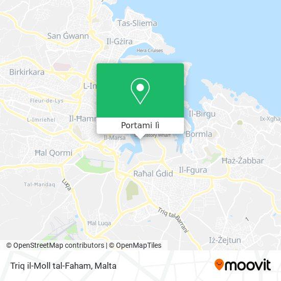 Mappa Triq il-Moll tal-Faham