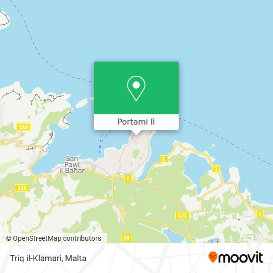 Mappa Triq il-Klamari