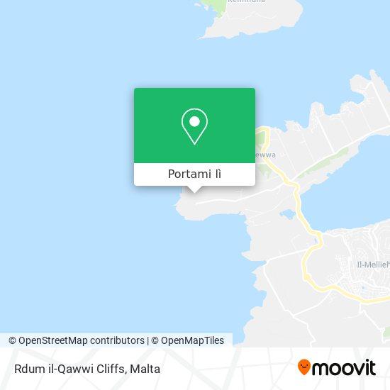 Mappa Rdum il-Qawwi Cliffs